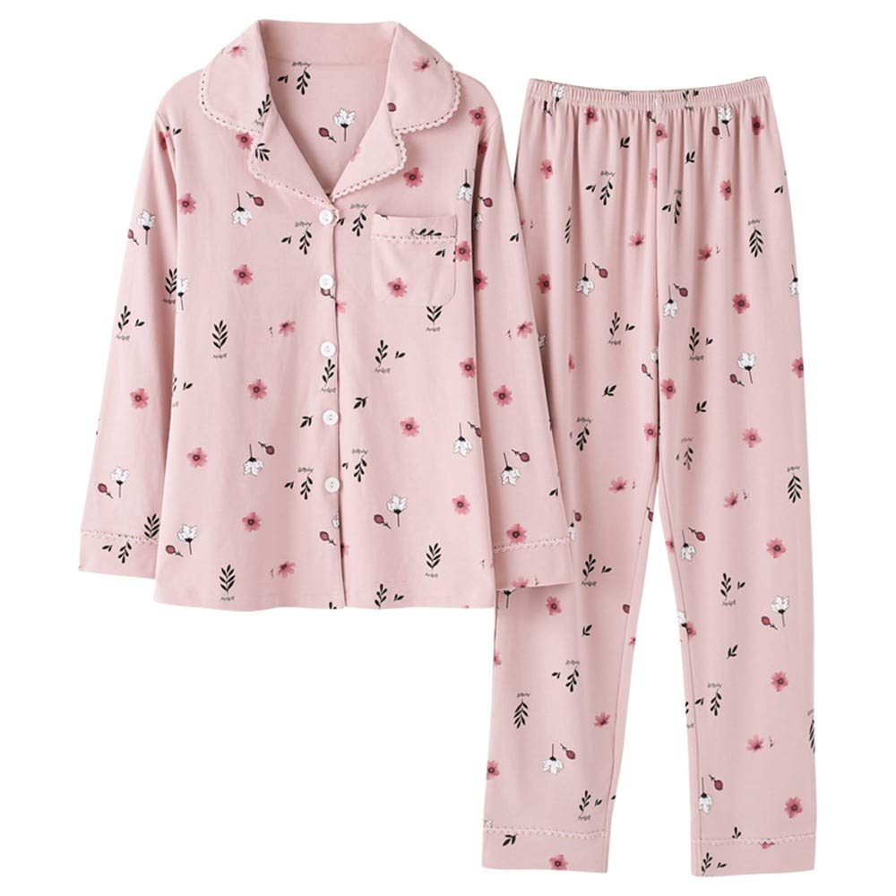 MEIXIA Pajama Sets Nightclothes Loungewear da Mom Pajamas Cardigan da  Loungewear Donna in Cotone A Maniche 3e205f5f6ff