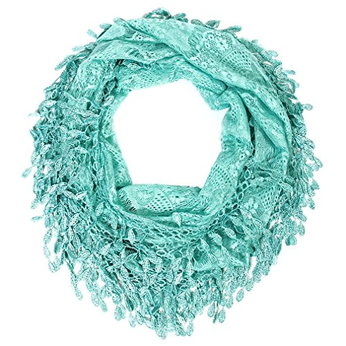 Scarfand's Infinity Scarf with Fringe (Blue)