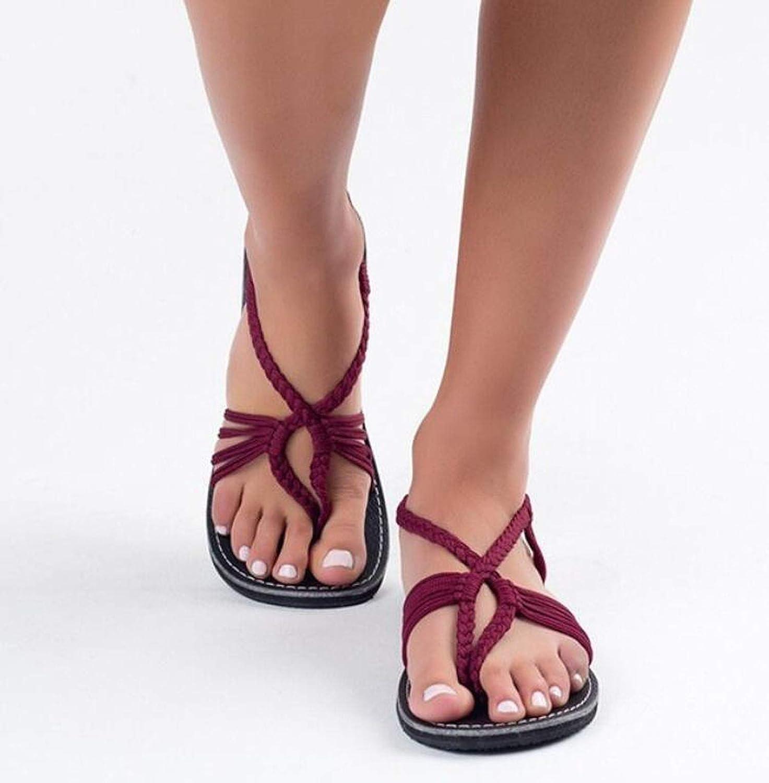 Summer Women Sandals Beach Open Top Flat Rome Sandals for Feminino Ankle Strap Knot Sandalias Mujer