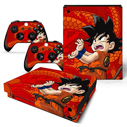 EBTY-Dreams Inc. - Microsoft Xbox One X Scorpio - Dragon Ball Z (DBZ) Son Goku Saiyan Vinyl Skin Sticker Decal Protector (Best Dragon Ball Z Game For Wii)