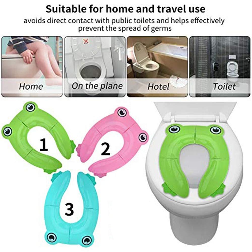 Alfombra de ba/ño Set verde Alfombrillas De Ba/ño Travel Potty Toilet Potty Fundas de asiento de entrenamiento Plegables almohadillas antideslizantes grandes para beb/és y ni/ños peque/ños reutilizables