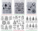 Tim Holtz Cling Stamps Christmas BUNDLE: Scribbly Christmas, Doodle Greetings, Watercolor Trees, Tattered Christmas, Great Outdoors, Holiday Postmarks (CMS249+CMS287+CMS317+CMS318+CMS321+CMS323)