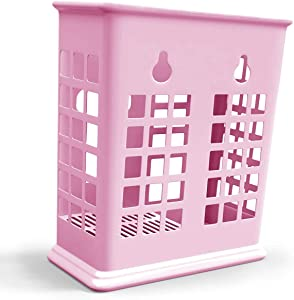 Chopsticks and Straws Holder Basket for Dishwashers - Hold Chopsticks, Straws, and other Utensils Without Falling Through (Pink)
