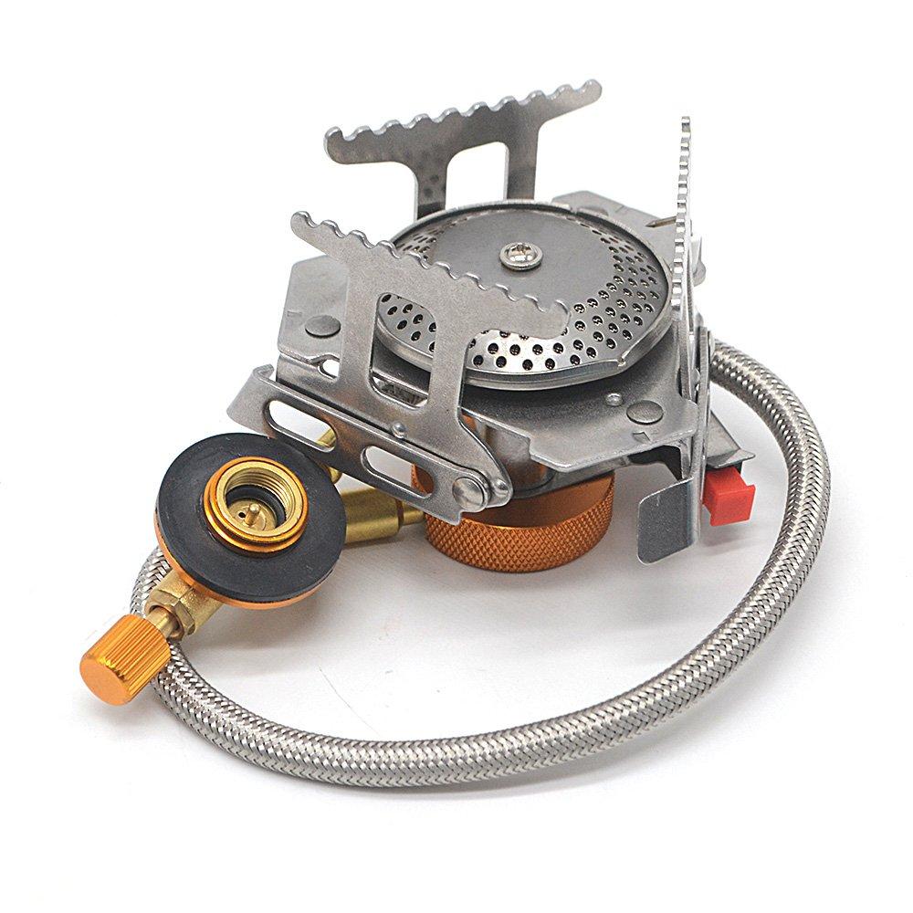 Rayinblue Mini portátil estufa de cocinar al aire libre quemador de gas para barbacoa de Camping plegable 3500 W cocina: Amazon.es: Deportes y aire libre