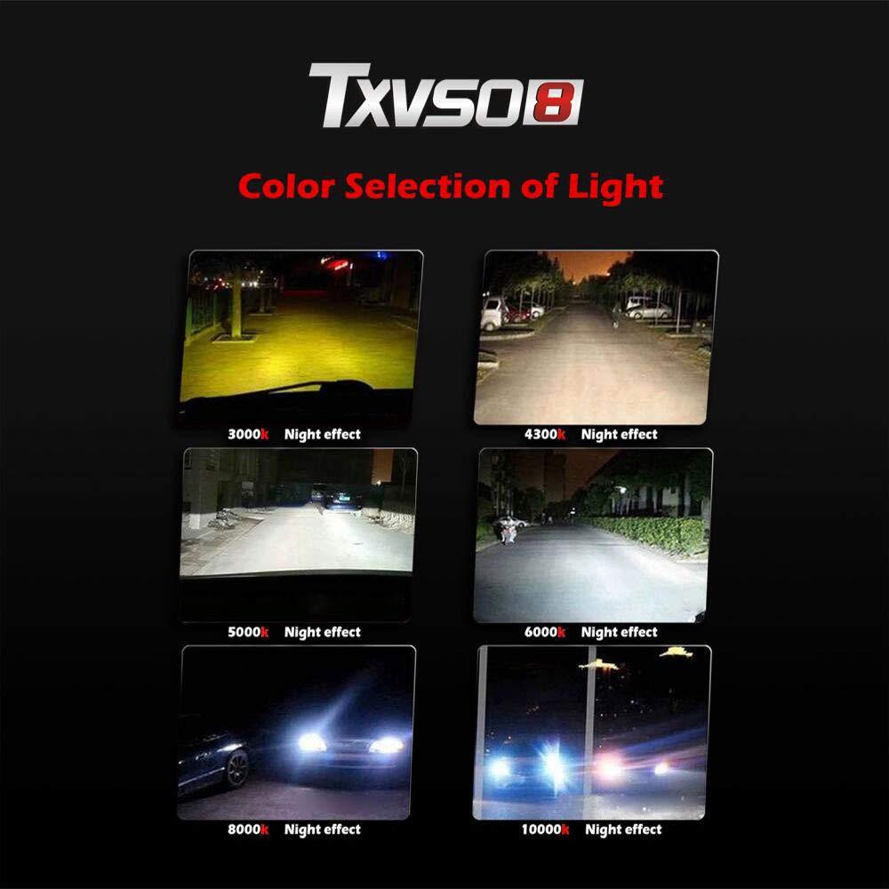 TXVSO Date Mini 12V 55W Xenon DHI Kit de conversion phare pour kit dampoule halog/ène de remplacement de v/éhicule automobile H11//H9//H8 6000K diamant blanc