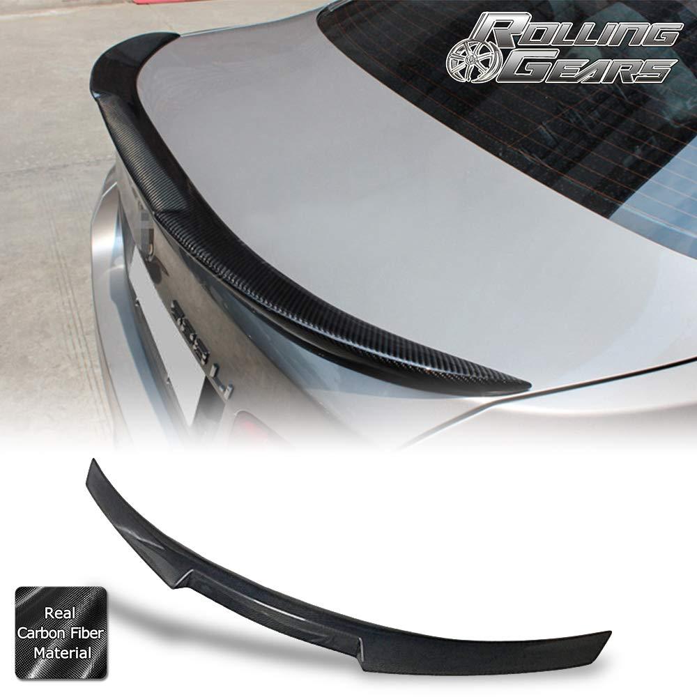 Rolling Gears Carbon Fiber Trunk Spoiler Fits BMW 5-Series F10 Sedan 2009-2016 High Kick Style
