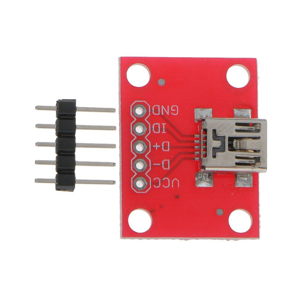 Mini USB Mini B Circuit Imprimé Platine Déploiement Puissance 5V Module pour Arduino Generic