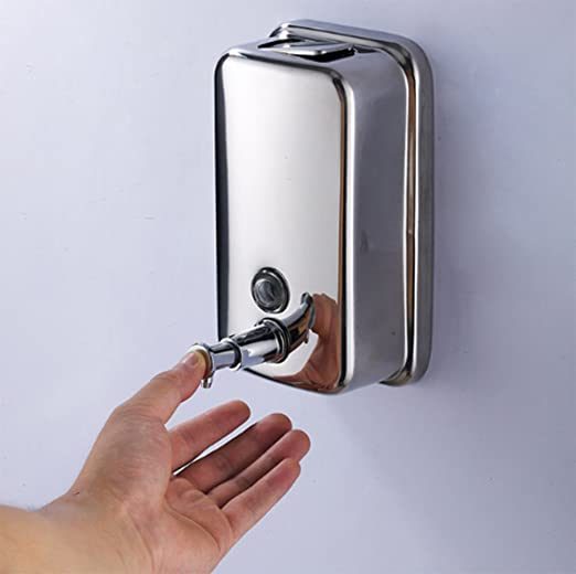 Amazon.com: YUPECO Wall Mounted Soap Shampoo Chrome Finish Square Liquid Soap Bottle Bathroom Accessories Hand Detergent Dispensador Pum: Toys & Games