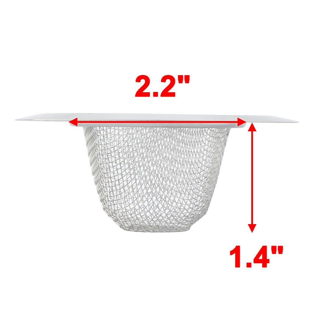 9/cm Durchmesser Wire Mesh Erdgeschoss Waschbecken Abfluss Sieb Silber Ton