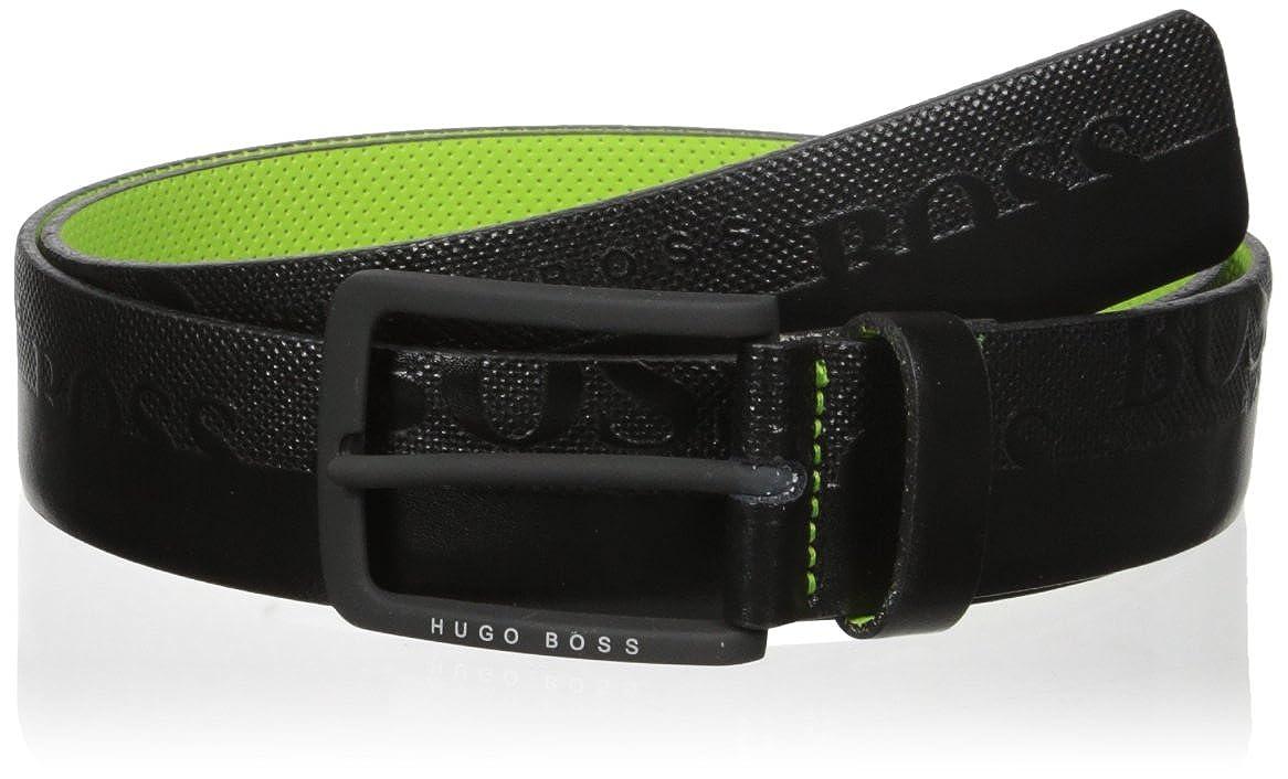 Hugo Boss Mens Toluca Boss Logo Leather Belt