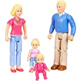 You & Me Happy Family Family Action Figure Set (Dad, Mom, Daughter, and Baby) Blonde Hair
