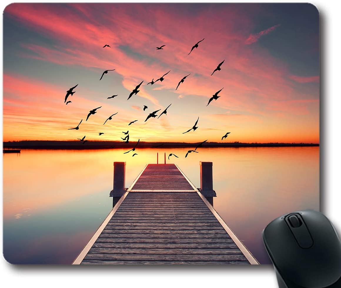 Ice Rabbit Mouse Pad Custom Motivational Quotes Life is Like Riding a Bike Inspirational Quote Mouse Pad Non-Slip Rubber Oblong Mousepad