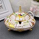 Znzbzt Tropical elephant retro belt cover a large number of personalized fashion creative metal ashtray swing in process, white lucky as