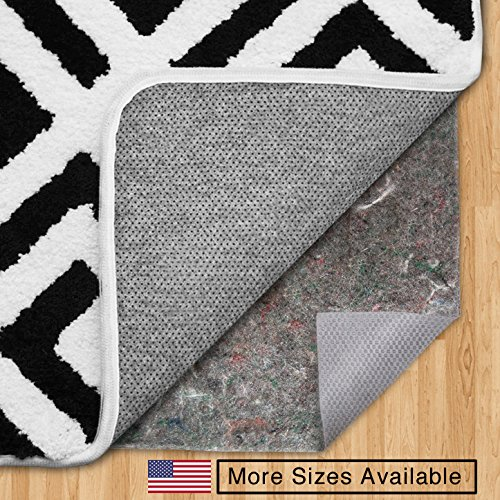 The Original Gorilla Grip (R) FELT + RUBBER Gripper Rug Pad, Extra Thick, Plush Cushion Support for Under Rugs, Made in USA, Many Size Pads Available, For Hard Floors, Protects Floor Surface (2' x 8')