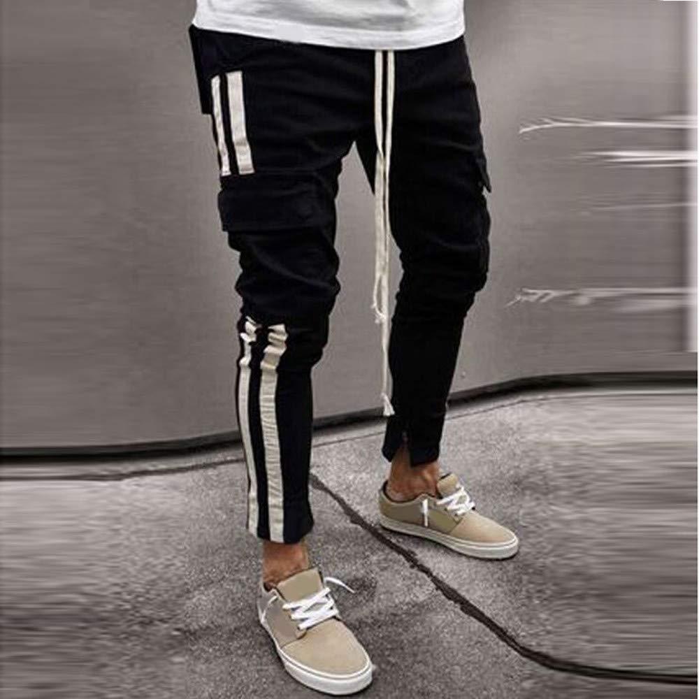 Men`s Alimao Fashion Autumn Winter New Black Multi Bag Young Cowboy Pants