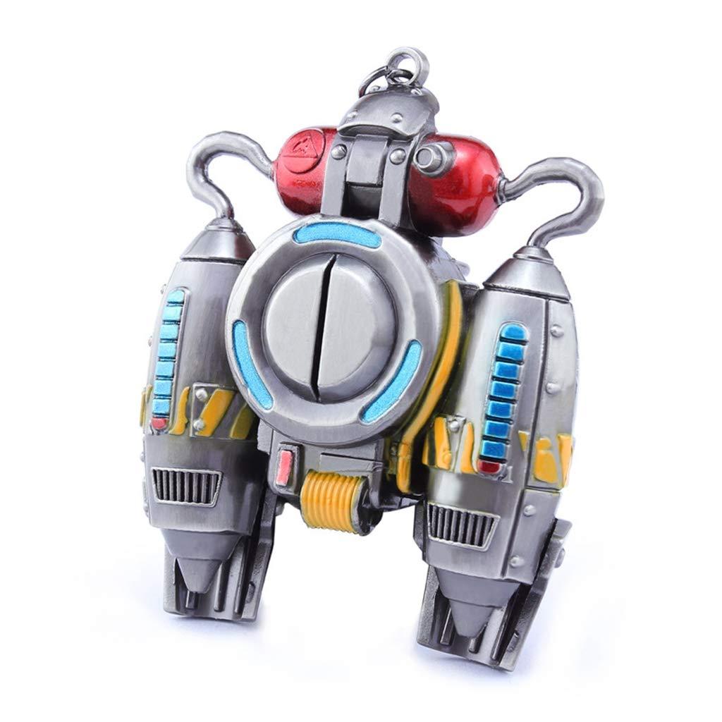 Mankecheng Jeux en métal Jet à dos à dos Modèle d'action figure Arts Toys Collection Porte-clés cadeau 641154