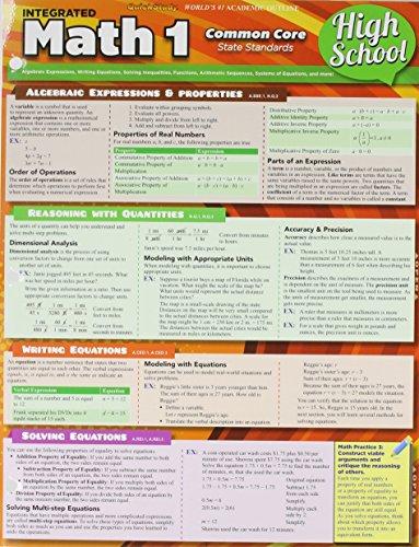 Math 1 Common Core 9Th Grade (Quickstudy)