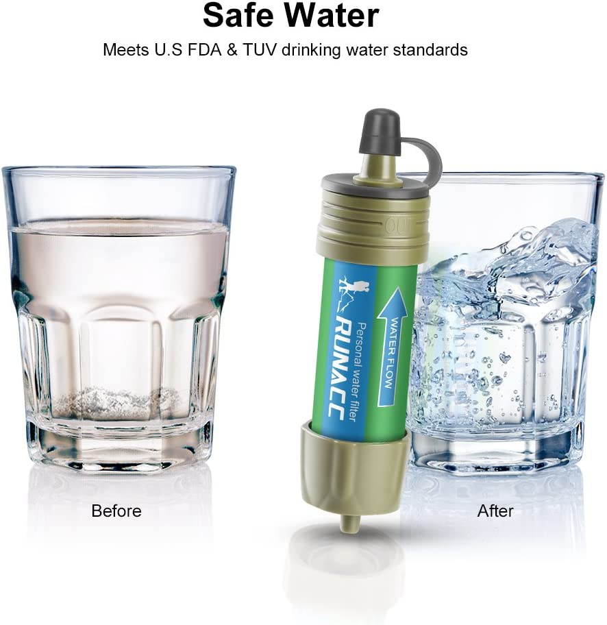 Water Filter Camping Straw Filtration System with Ball Pump Fast Drinking