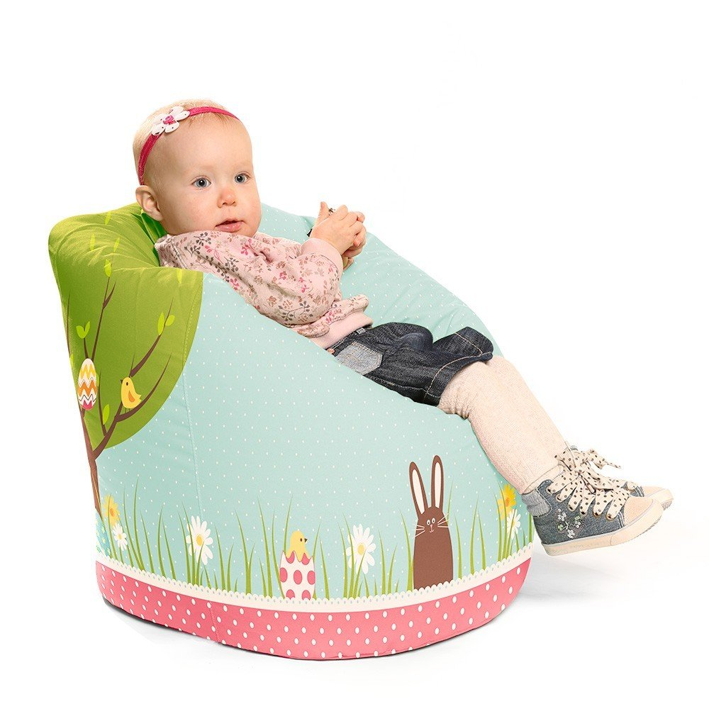 RUComfy Kids Handle Bean Bag, Fabric, Spring Time RU Comfy PRSPRT-SM