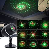 Christmas Projector Lights Outdoor Decorations Red&Green Moving Galaxy Spotlights for Party Halloween Stage Light