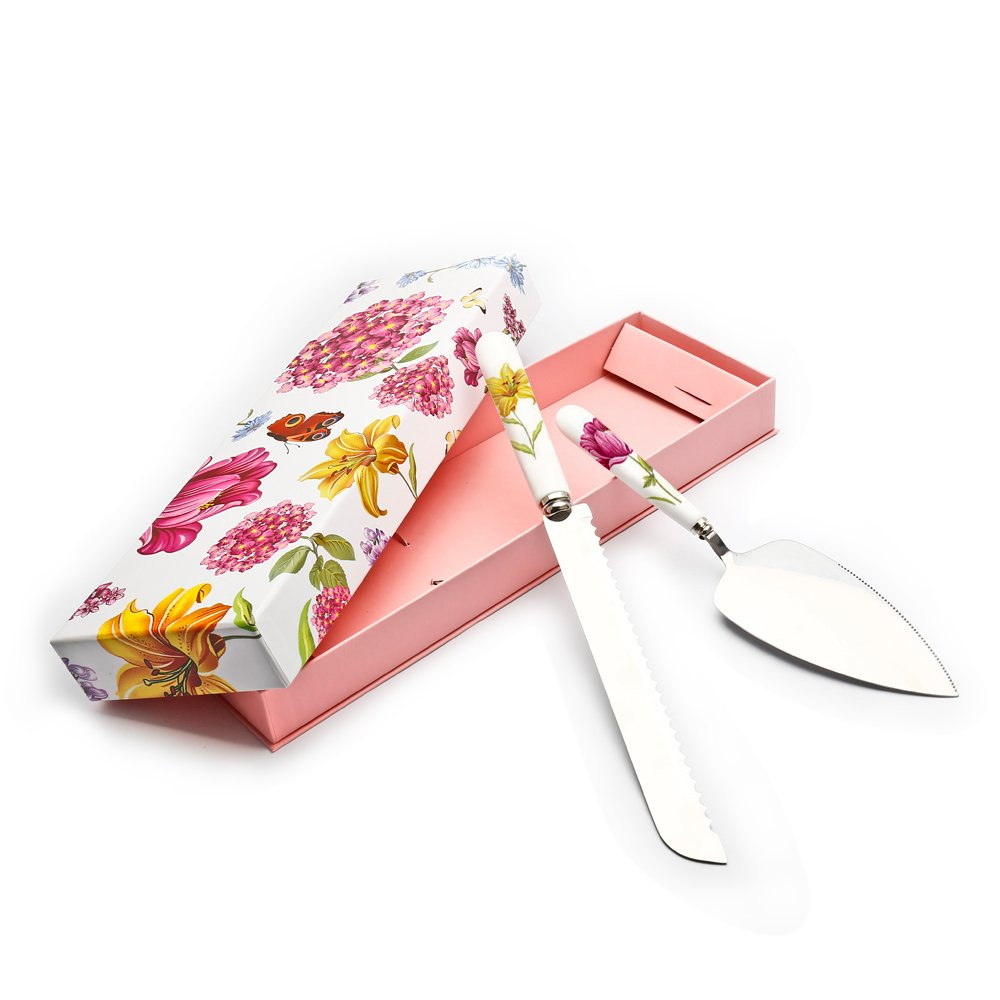 Amazon.com: Elegant Life Flatware Set Herb Garden Ceramic Stainless ...