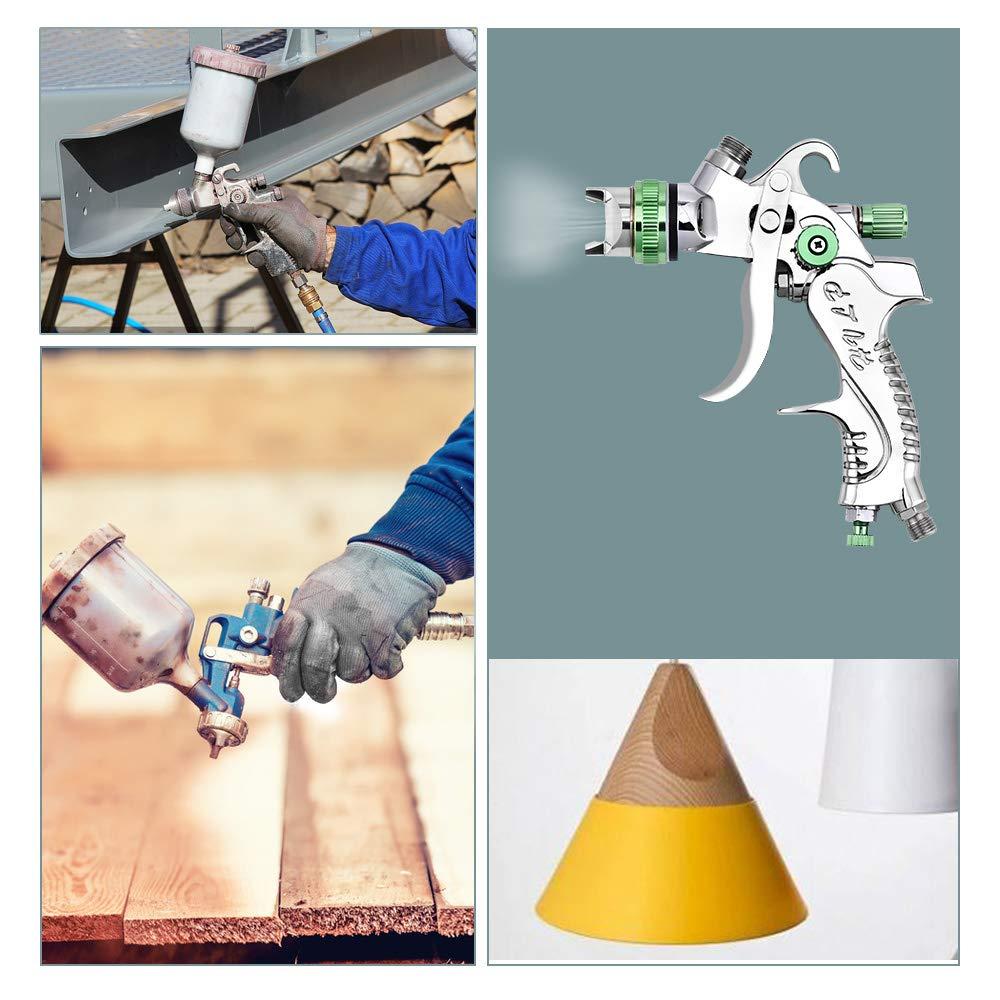 TOPQSC HVLP Pulv/érisateur de Peinture Professionne/GFG Pistolet /à Peinture Buse de 1.4mm Pistolet de Pulv/érisation dAir Gravity Avec Eau de Vanne D/ébit de Peinture R/églable