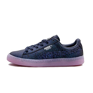 87e1b1d160ab PUMA X Sophia Webster Women s Basket Glitter Princess Black Purple 366129  01 (Size