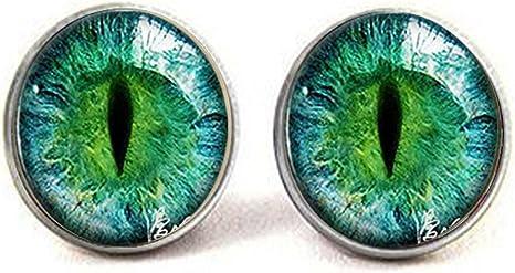 Green Cat Eye Cufflinks