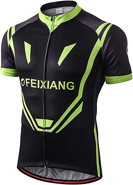 Mens Cool Mountain Bike Shirt Short Sleeve Anti-slip Breathable Cycling Apparel
