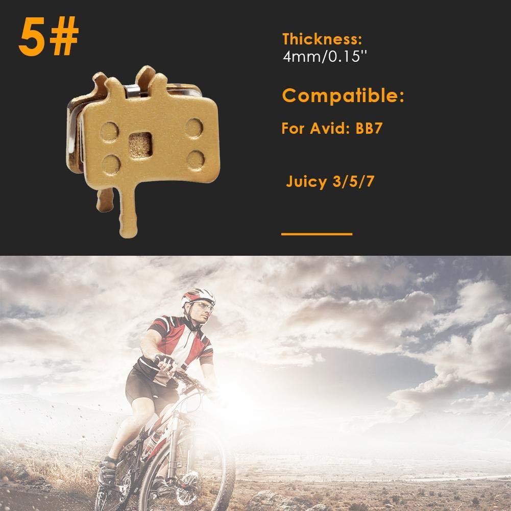 5 shuisyxiang Bikein Pastilla de Freno de Disco de Ciclismo a Base de Cobre para Reparaci/ón de Bicicletas Shimano