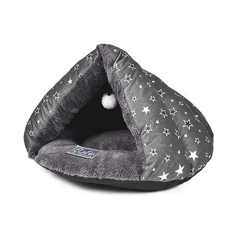 PETCUTE Cama Cueva para Gatos Cama para Gato Cama de Gato para Mascotas Saco de Dormir