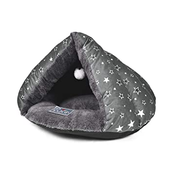 PETCUTE Cama Cueva para Gatos Cama para Gato Cama de Gato para Mascotas Saco de Dormir de Gato Suave: Amazon.es: Productos para mascotas