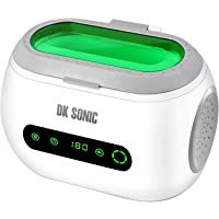 DK SONIC Ultrasonic Cleaner 600ml Digital Ultrasonic Cleaner Cleaner Stainless Steel Ultrasonic Bath with Touch Control Watch Holder and Cleaning Basket 40,000Hz 35W for Jewelry Waterproof Watches Shaver Parts Denture Gun Blades Ring Injector Glasses Circuit Board Retainer