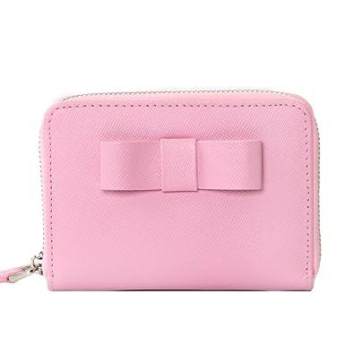 40c6f2524164 本革 コインケース レディース 財布 リボン付 軽量 大容量 コインウォレット 革 カードケース