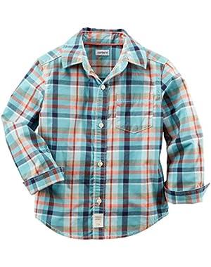 Carter's Check Button Down Shirt (Baby)