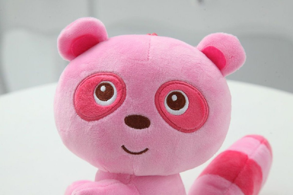 Axixi Plush Stuffed Cute Soft Raccoon Zoo Animals Cloth Raccoon Multi Style Toy Children Doll Birthday Gift Bolster 20cm//8 Brown