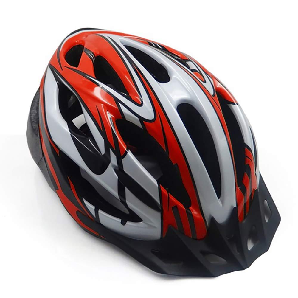 CZPF Rennradhelm Einteilige MäNner Und Frauen Vier Jahreszeiten Fahrradhelm Sport Outdoor Schutzhelm Off-Road,ROT-OneGröße(5762CM)
