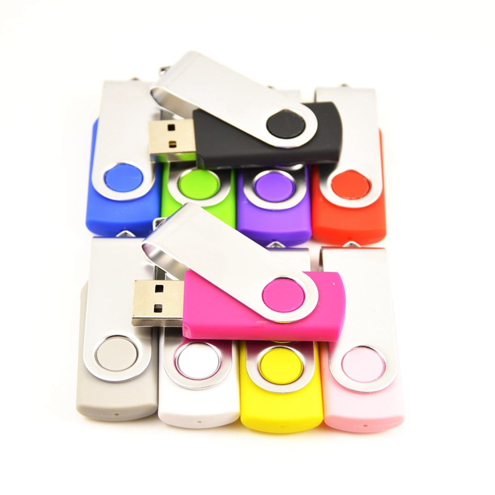 FEBNISCTE 100 Pack Swivel 512MB USB Flash Drive 10-Color Assorted by FEBNISCTE