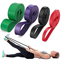 5X Resistance loop bands set Strength fitness Gym exercise Yoga workout Pull up