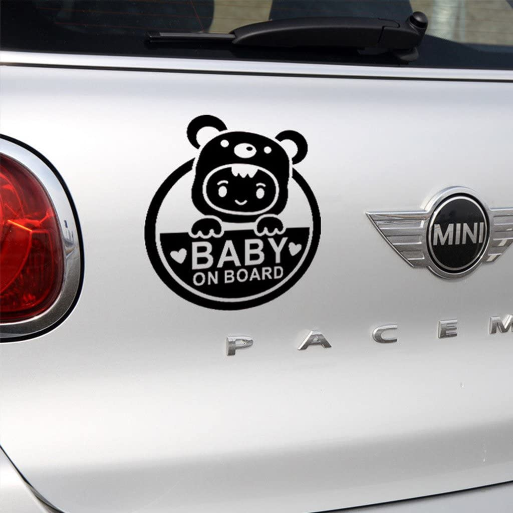 BUY 2 GOT 1 BABY ON BOARD// BABY IN CAR Aluminum Sticker Decal Car Window Bumper