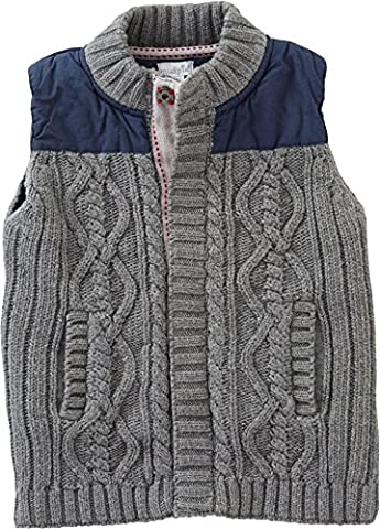 Mud Pie Baby Boy's Cable Sweater and Nylon Vest (Infant/Toddler) Gray Medium - Infant Nylon Vest