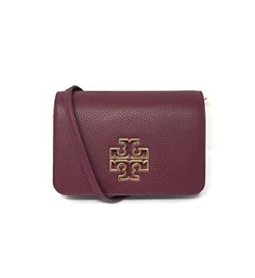 d2a74fe7c8a Image Unavailable. Image not available for. Color  Tory Burch Britten Combo  Crossbody in Red Agate