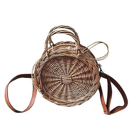 Limotai Handbag Una Bolsa de Paja de Mimbre Bolsos de Lujo el diseñador de Bolsos Bolso