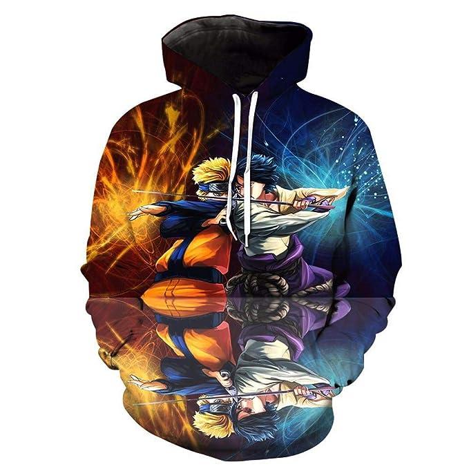 Unisex Sudadera con Capucha 3D Colorido Gráfico Impresion Sudaderas Naruto Hoodie con Bolsillos Drawstring: Amazon.es: Ropa y accesorios