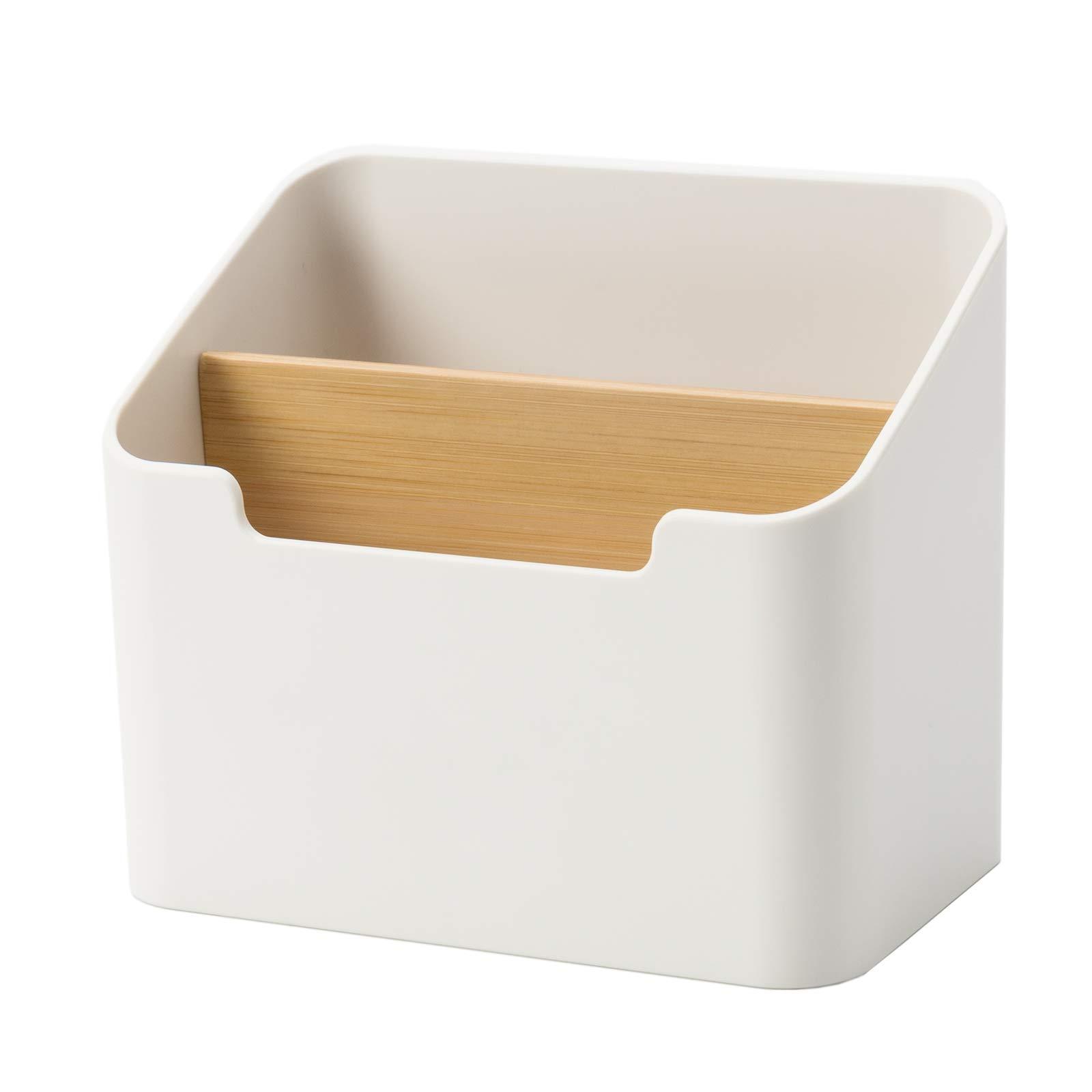 Poeland Remote Control Holder Desk Storage Organizer Box Container for Desk, Office Supplies, Home