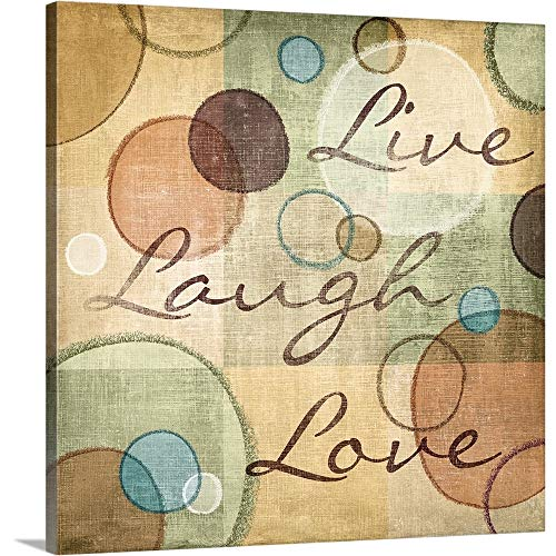 N. Harbick Premium Thick-Wrap Canvas Wall Art Print entitled Live Laugh Love 16