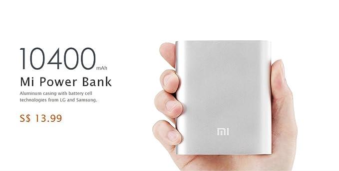 Amazon.com: Mi 10400 mAh batería externa (Power Bank ...