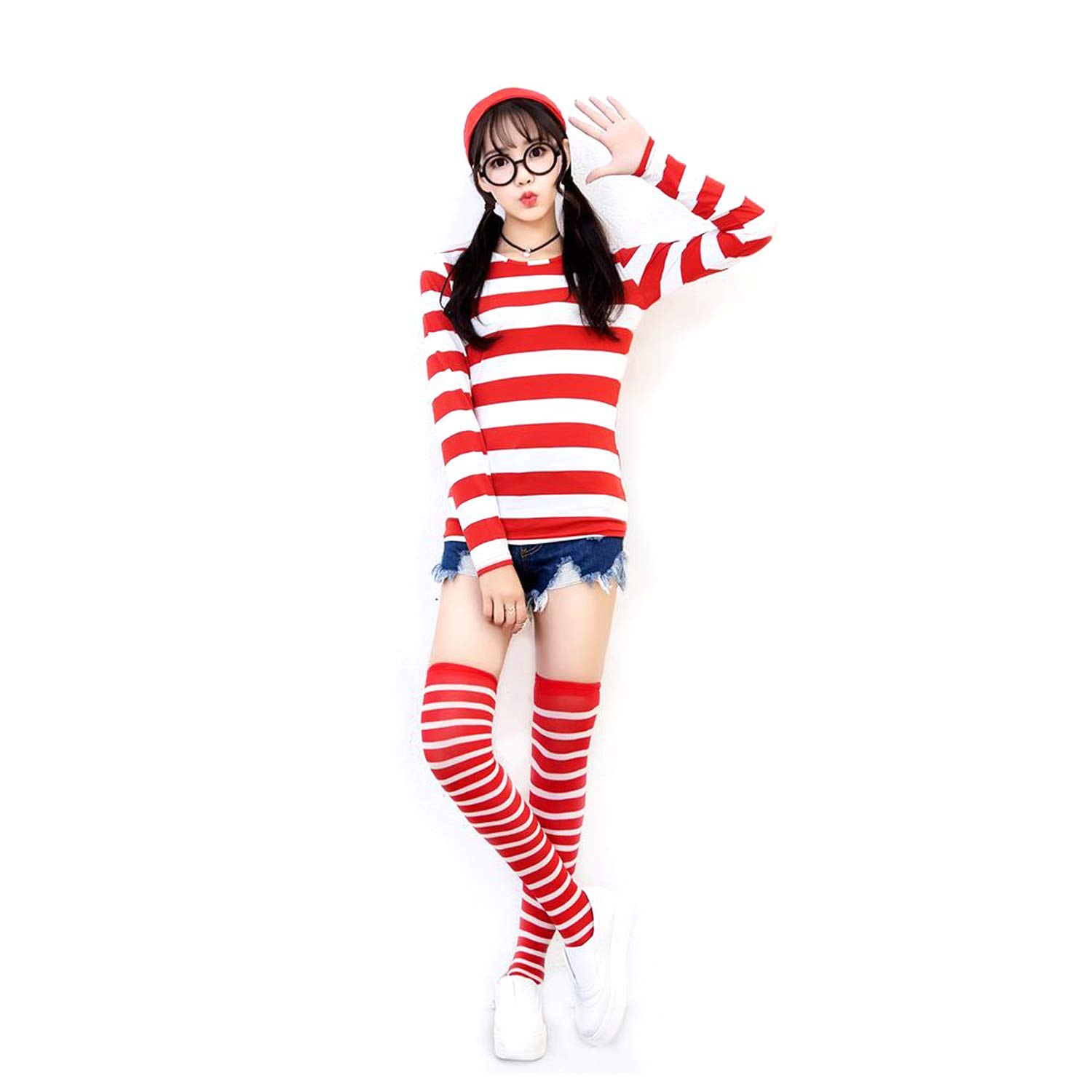 GMIOWEU Halloween Cosplay Costumes, Shirt Costume, Adult Funny Sweatshirt, Hoodie Outfit Glasses Hat Shirt Suits
