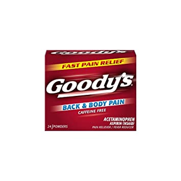 Goodys Back and Body Pain Relief Powders - Acetaminophen & Aspirin Quickly Relieve Pain Due to