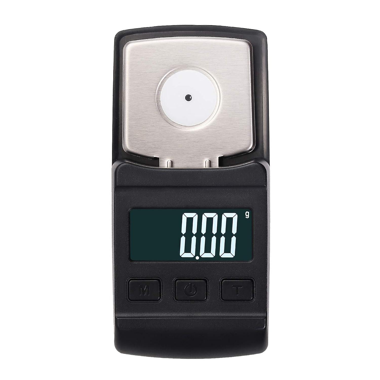 Balanza Digital para Aguja de Tocadiscos Mini Escala Electronica para Placa Giratoria 0.01g – 100g Pantalla con Retroiluminación Función Apagado ...